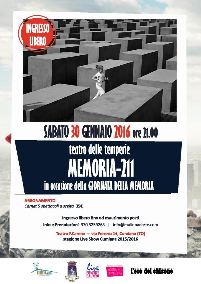 Locandina A3 MEMORIA-211