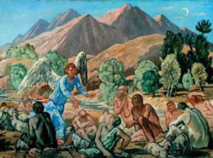 Annuncio ai pastori, 1941 - Olio su tela cm 80x110