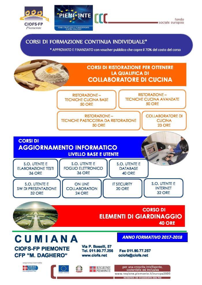 VOLANTINO COMPLETO CORSI 2017-2018